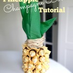 Pineapple Champagne Bottle Tutorial