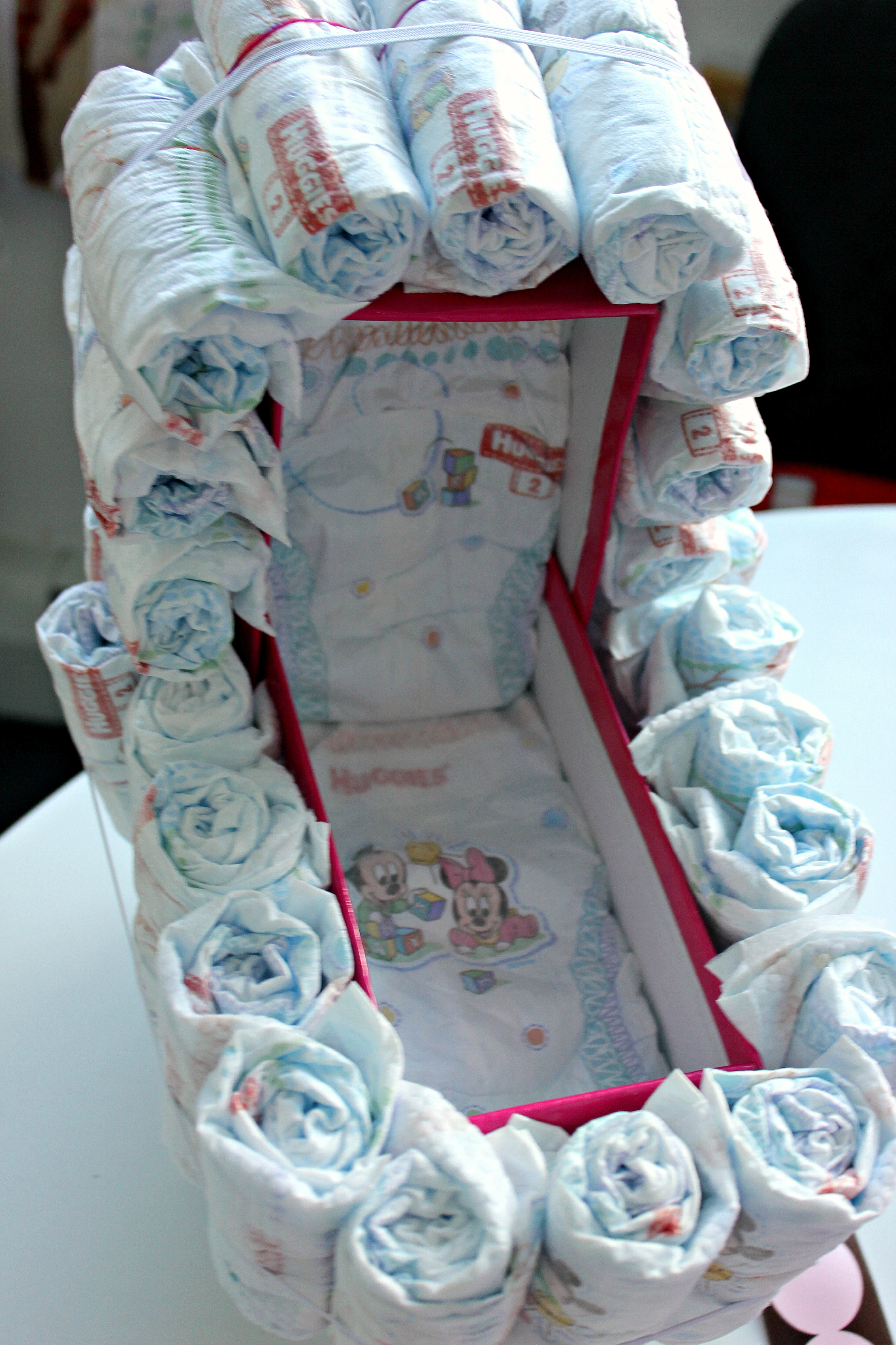 Baby Carriage Diaper Cake Creative Sides