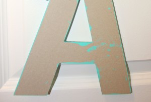 Painting Wooden Letter Monogram