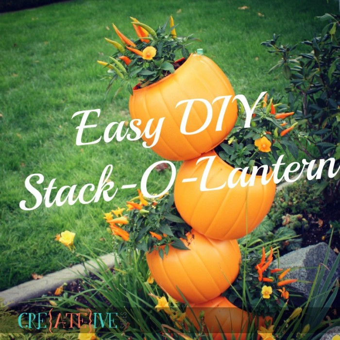 Easy DIY Stack-O-Lantern