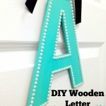 DIY Wooden Letter Monogram