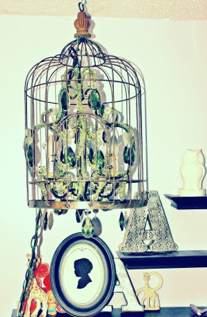 Hanging DIY Chandelier Birdcage Upcycle