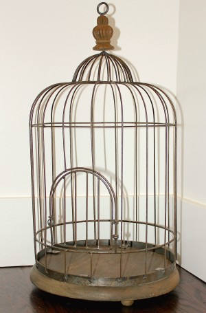 birdcage before diy chandelier upcycle