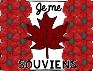 Je Me Souviens French Remembrance Day Craft