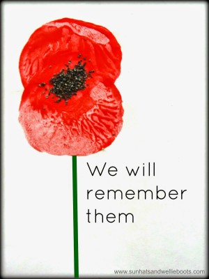 potato print and poppy seed remembrance day craft