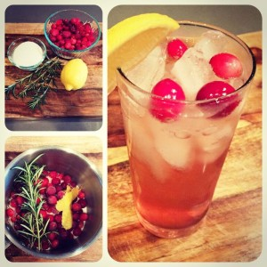 Cranberry Rosemary Simple Syrup