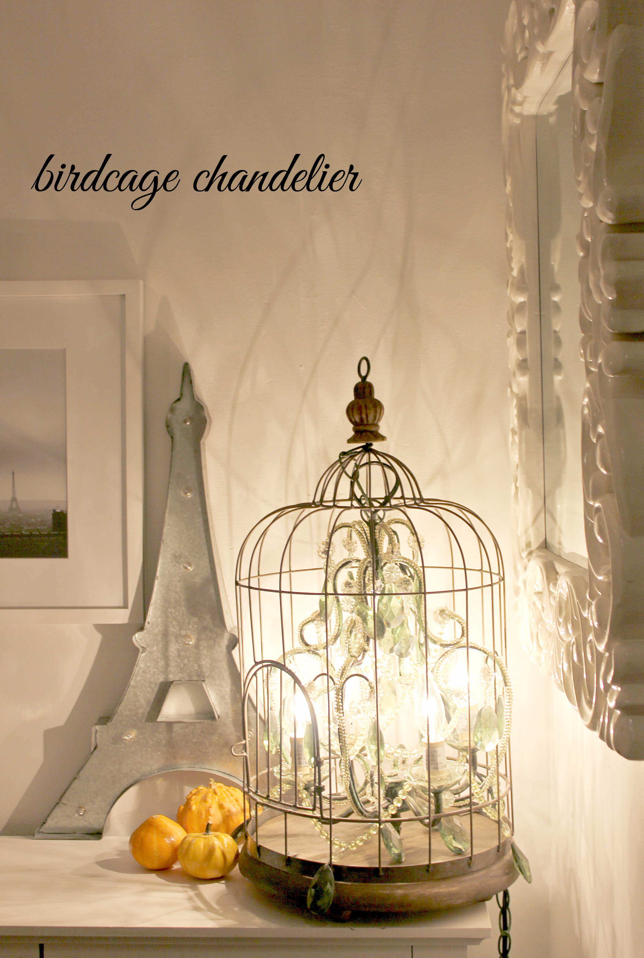 Diy birdcage chandelier creative sides sometimes the only thing i wish for more than extra wall space in our home for more photos of course is a larger need for chandeliers in my life aloadofball Image collections