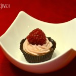 Raspberry Mascarpone Chocolate Cups with Raspberry Sangria