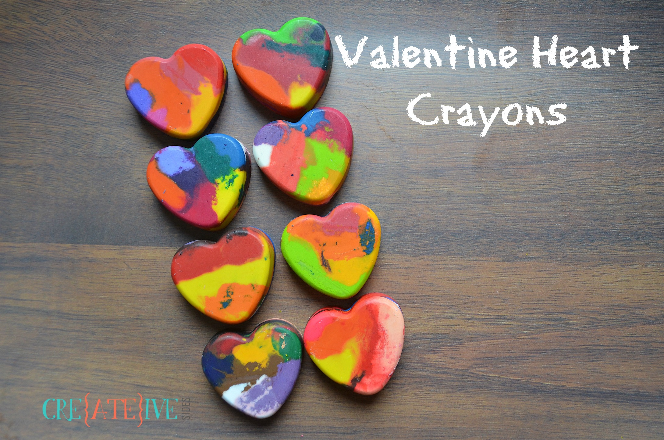 Valentine Heart Shaped Crayons
