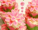 Two Tier Flower Power Cupcakes