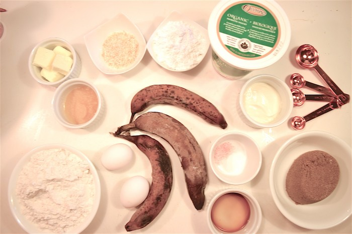 Coconut Banana Bread Ingredients