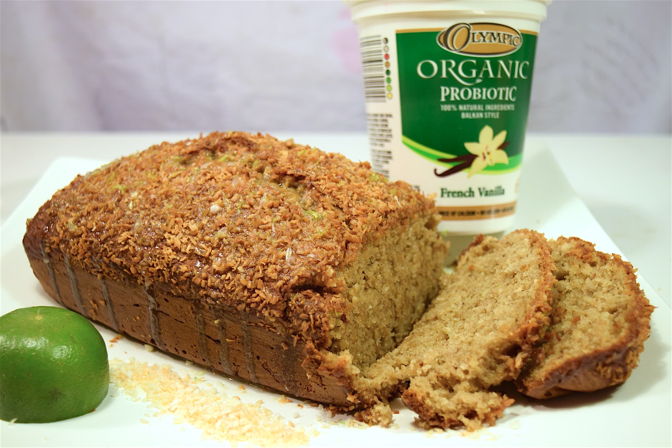 Toasted Coconut Lime Banana Bread #OlympicDairyGood