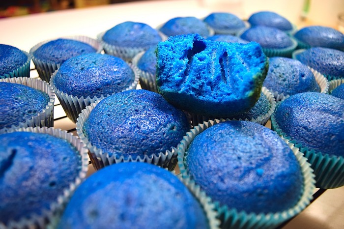 Finding Dory blue cupcakes