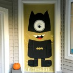 Bat Minion Halloween Door